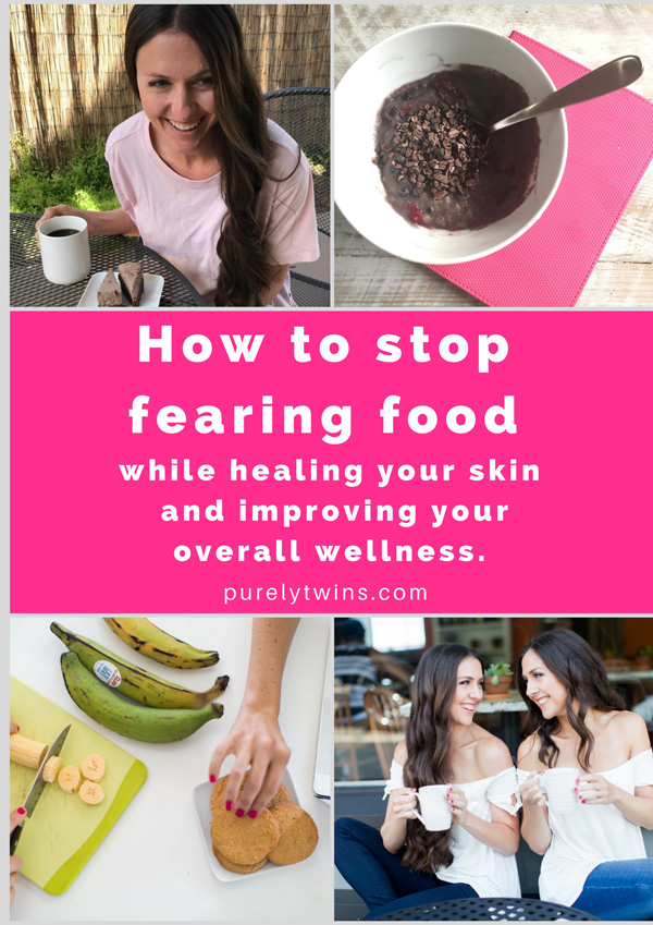 How To Stop Fearing Food And Get Healthy Skin Without Having It Take Over Your Life And Ruin Your Self-Esteem?We Know What It Is Like To Just Want Clear Skin And Just Be Healthy, But You Have All This Fear Around Food And If Your Skin Is Going To Go Crazy Or Breakout When You Eat Certain Foods. If You're Suffering With Staying Positive With Your Food Choices To Feel Better And Get Clearer Skin Check Out Our Tips Here