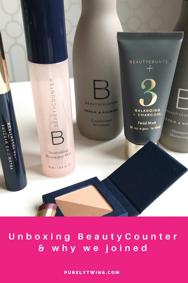 NEW video! Unboxing our first beautycounter box and review of the products we bought. Plus why we joined beautycounter. We love being part of a beauty movement to get safer skincare products to families.