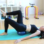 11 Ab exercises using mini exercise ball for flatter tummy & to help heal diastasis recti