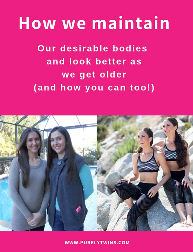 How we maintain our desirable bodies through our words, actions, and beliefs! What you focus on expands. When we discovered we can work out less and get results it changed everything for us. We shifted our beliefs around fitness and our bodies. We created new empowering beliefs like we can get a hot sexy body by working out less…the older we get the hotter and more fit we look. Focus on your beliefs and thoughts to change your body. We hope you enjoyed these two tips. Please share it with others. #fitnesstip #manifesting #LOA #powerofyourmind #fitandhealthy #bodyweightworkouts #mindset