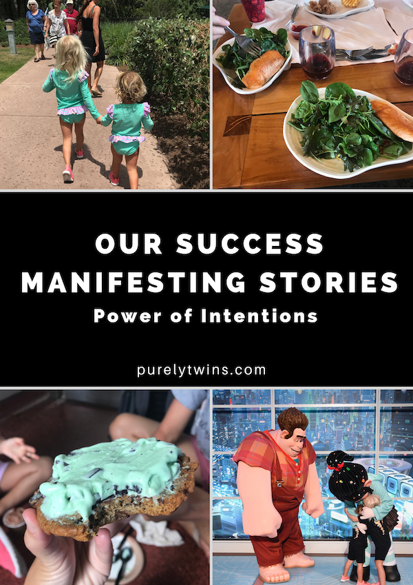 Setting intentions to manifest what you desire + some of our personal manifesting stories from our past vacation to Disney. How the power of intentions changed everything for us and how you can change your life too. #manifesting #lawofattraction #disney #familyvacation
