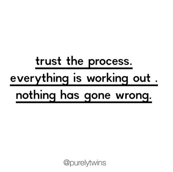 Trust the process. Everything is working out for you. #personalgrowth #mindset #selflove