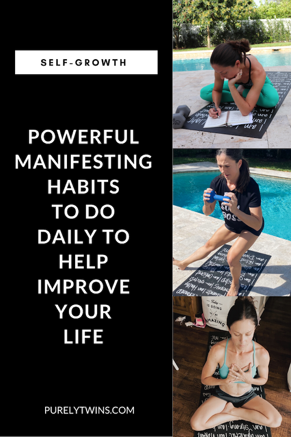 Want to manifest your dream life? Here are some daily habits to help improve your life. These are the manifesting habits we do that have changed our lives. #manifesting #selfgrowth #mindset #loa #faith