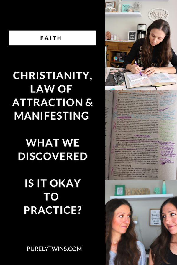 We wanted to share more of the Bible verse that really helped us see what we were doing was not from God. Even though it seemed good on the outside. We also discuss other false teachings and much more. Click to see -What we learned about the law of attraction & being Christians (what you need to know) #lawofattraction #manifesting #faith #Jesus