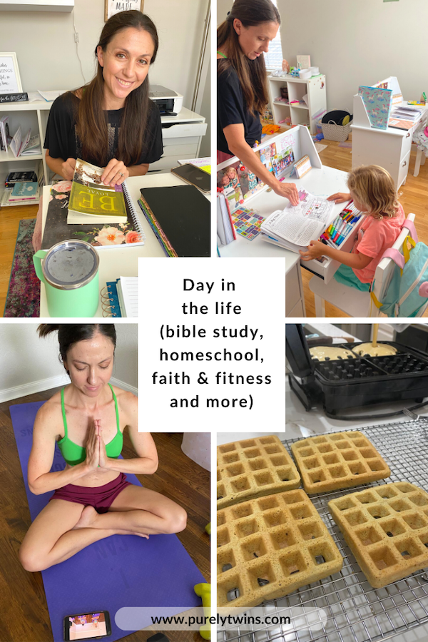 VLOG - A day in the life with us where we show our new routine infused with Jesus! Bible study + fitness + homeschool and more!