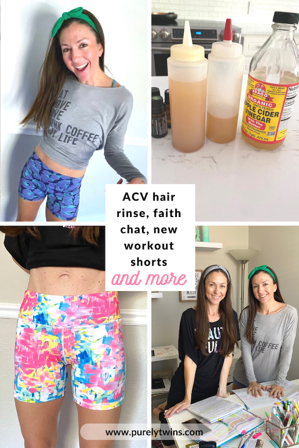 Sharing new workout shorts we love from I am becoming and Alo, Michelle shares her apple cider vinegar hair rinse that she mentioned in our hair product update video, plus we chat about our thoughts on Beatitudes. Please share your takeaways from Jesus's teaching on Beatitudes.