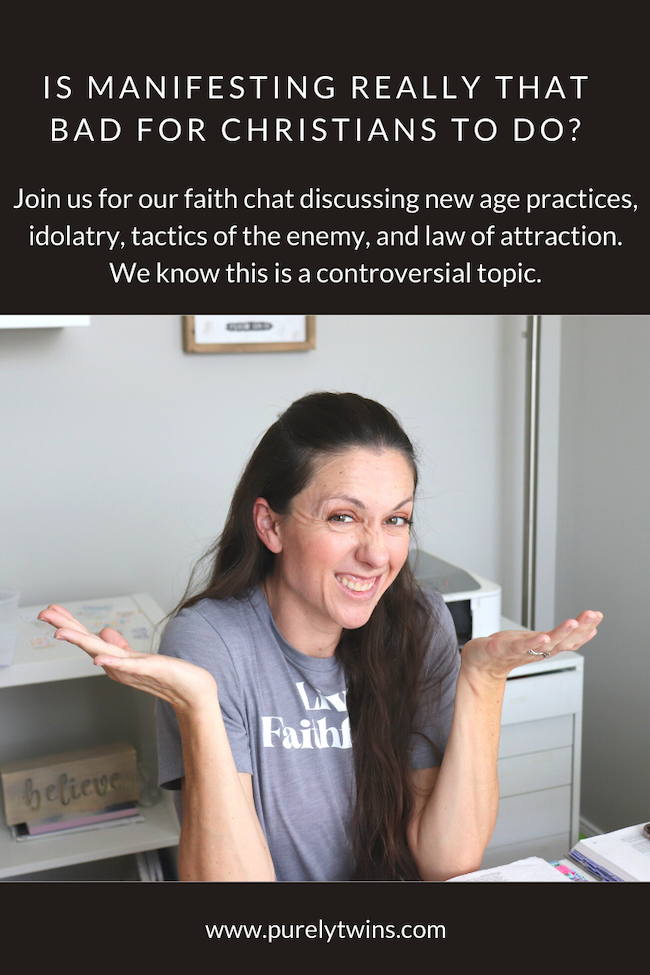 Is manifesting, the law of attraction, meditation, witchcraft really that bad? What does the Bible say? Discussing more of what we learned about these new age practices - is it a sin? Should Christians be practicing them? Join us for our faith chat on this controversial topic.