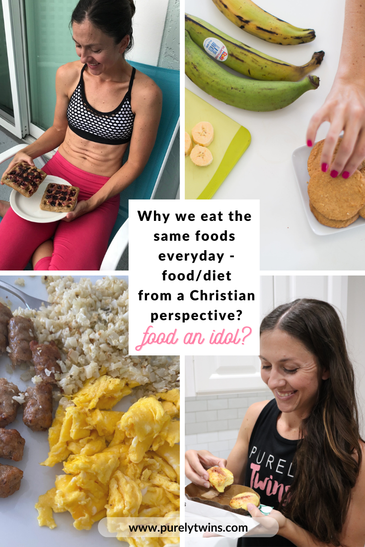 we address a girl's post on Instagram where she talked about eating the same foods every day is still dieting. We chat about food and dieting from a Christian perspective and share why we eat the same foods every day. We also chat about food obsessions and making food an idol.