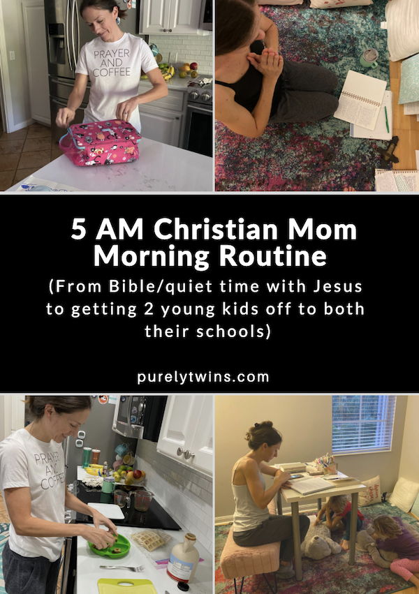 5 AM Christian Mommy Morning Routine | Jesus quiet time | Preschool & Kindergarten In this video, I (Lori) is sharing my current 2020 morning routine from how I wake up early to read the Bible and then get my two kids ready for school. This year with COVID school has been different as we know many parents can relate to that we are all doing the best we can. I wanted to share how I make it a priority to be in the Word each morning and get my family ready for the day. So please enjoy seeing my mornings with my preschool and kindergarten children.