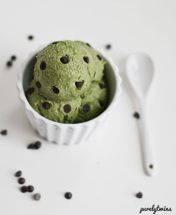Homemade Creamy Mint Chocolate Chip Avocado Ice Cream Recipe