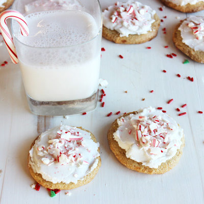 Flourless Frosted Peppermint Cookies
