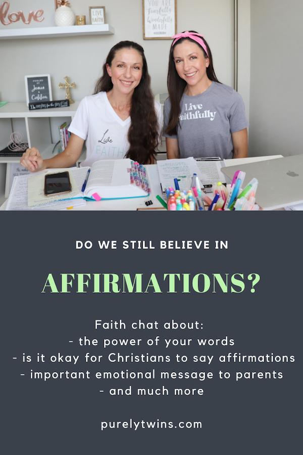 Do we still believe in affirmations? What do we affirm now as Christians. Plus an important (& emotional) rant about beauty and message to parents!